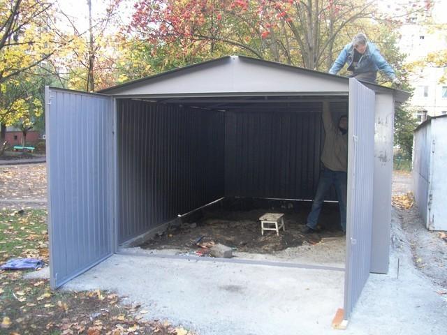 Как сделать железный гараж своими руками видео