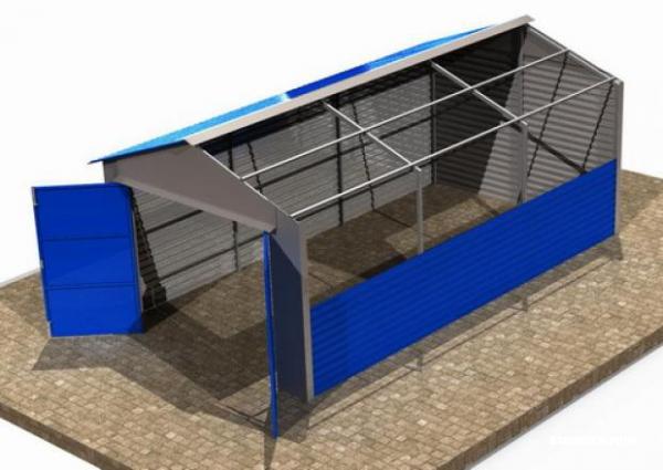Ширина гаража 4 метра