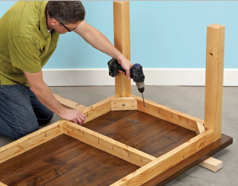 Как сделать своими руками из дерева столешницу для кухни